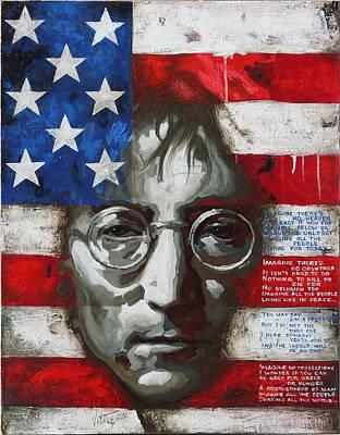 Painting - John Lennon -the Man Of Peace by Vitaliy Shcherbak