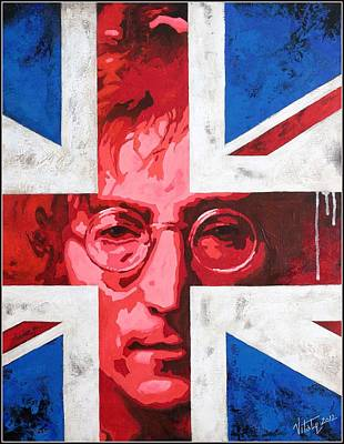 Painting - John Lennon -the Man Of Peace.the Number One by Vitaliy Shcherbak