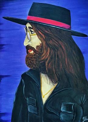 Painting - John Lennon  Tittenhurst Park by Edward Pebworth