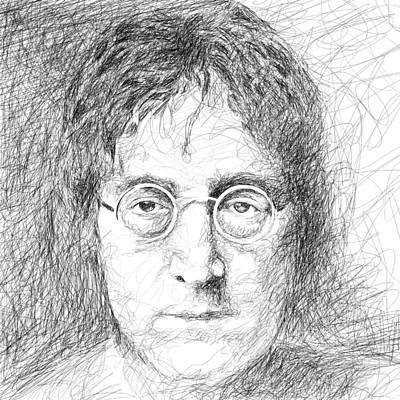 John Lennon Art Drawings Drawing - John Lennon by Viv Griffiths