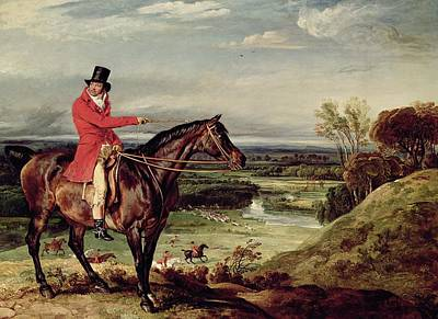 John Levett Hunting In The Park At Wychnor Art Print by James Ward