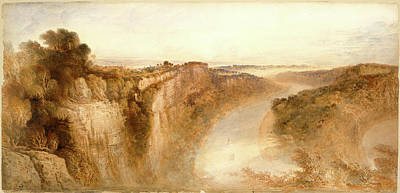 Heightened Painting - John Martin, View On The River Wye, Looking Towards by Litz Collection
