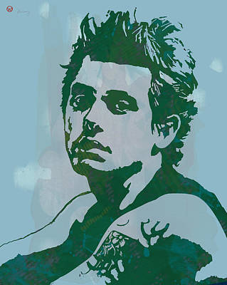 B.b.king Drawing - John Mayer - Pop Stylised Art Sketch Poster by Kim Wang