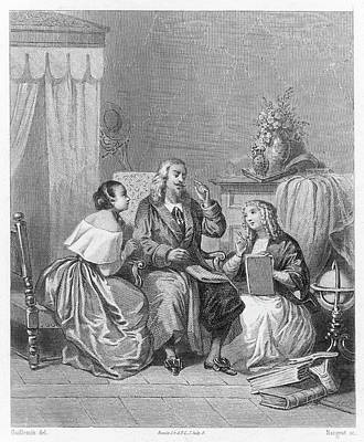 Dictate Drawing - John Milton Depicted Dictating by Mary Evans Picture Library