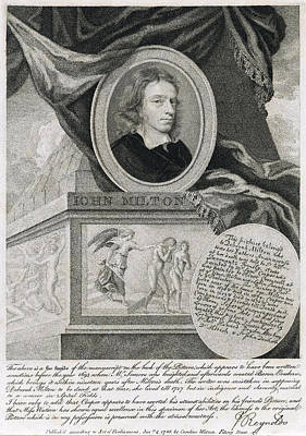 John Milton, English Poet Art Print by Folger Shakespeare Library