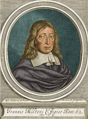 Free Speech Photograph - John Milton, English Poet by Science Source