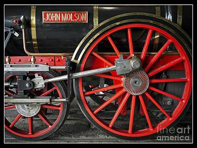Old Montreal Photograph - John Molson Steam Train Locomotive by Edward Fielding
