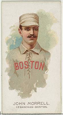 Baseball Cards Drawing - John Morrell, Baseball Player, 1st by Allen & Ginter