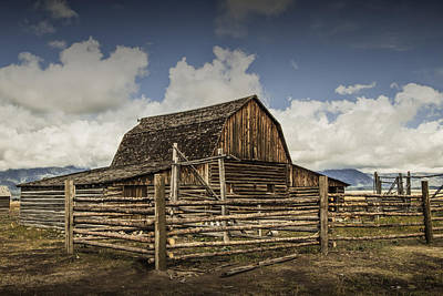 Brown Tones Photograph - John Moulton Barn On Mormon Row by Randall Nyhof