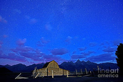 Photograph - John Moulton Barn Under The Stars by Deby Dixon