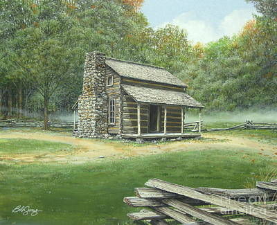 Painting - John Oliver Cabin by Bob  George