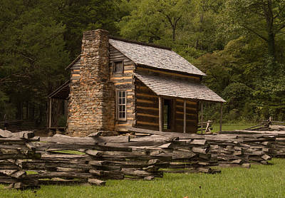 Photograph - John Oliver Cabin by Cindy Haggerty