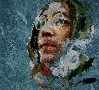 Beatles Life Music Digital Art - John On Texture 3 by Yury Malkov