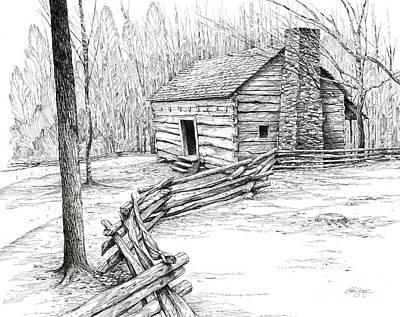 John Ownby Cabin Art Print by Bob  George