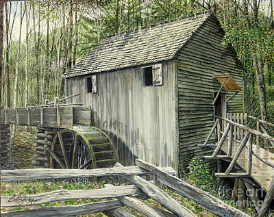 Painting - John P. Cable Grist Mill by Bob  George