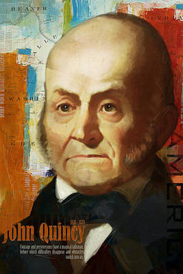 James Madison Painting - John Quincy Adams by Corporate Art Task Force