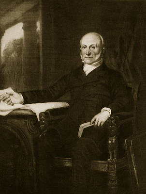 Healy Painting - John Quincy Adams by George Healy