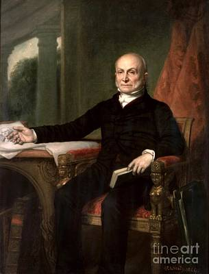 Healy Painting - John Quincy Adams by GPA Healy