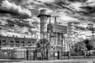 Photograph - John R Kelly Generating Station by Howard Salmon