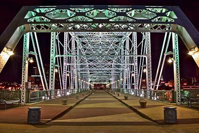 Pedestrian Bridge Photograph - John Seigenthaler Pedestrian Bridge by Frozen in Time Fine Art Photography