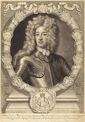 Kneller Drawing - John Smith After Sir Godfrey Kneller Active Early 19th by Quint Lox
