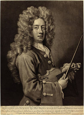 Kneller Drawing - John Smith After Sir Godfrey Kneller English by Quint Lox