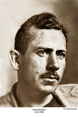 Photograph - John Steinbeck American Author Circa 1938 by California Views Mr Pat Hathaway Archives