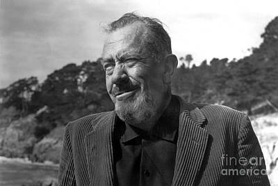 Photograph - John Steinbeck Pebble Beach, Monterey, California 1960 by California Views Mr Pat Hathaway Archives