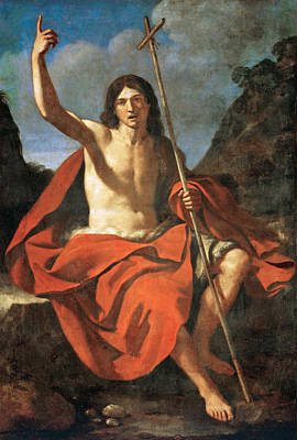 Baptist Painting - John The Baptist by Guercino