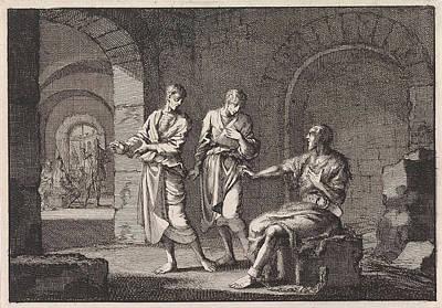Baptist Drawing - John The Baptist In Prison, Jan Luyken, Pieter Mortier by Jan Luyken And Pieter Mortier
