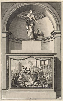 Cauldron Painting - John The Evangelist, Jan Luyken, Zacharias Chatelain II by Jan Luyken And Zacharias Chatelain (ii) And Jan Goeree