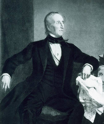 Black History Painting - John Tyler by George Healy