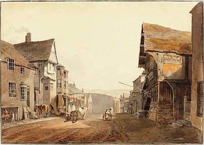 North Wales Drawing - John Varley British, 1778 - 1842, Conway In North Wales by Quint Lox