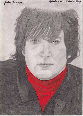 Celebrities Drawing - John by Vincent Young