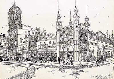 Drawing - John Wanamaker's Grand Depot by Ira Shander