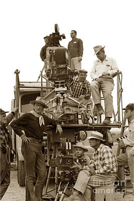 Animal Portraits - John Wayne and movie camera truck Rio Bravo 1959 by California Views Archives Mr Pat Hathaway Archives
