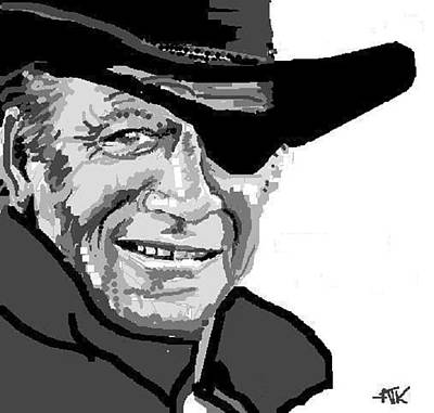 Digital Art - John Wayne by Ann Kipp
