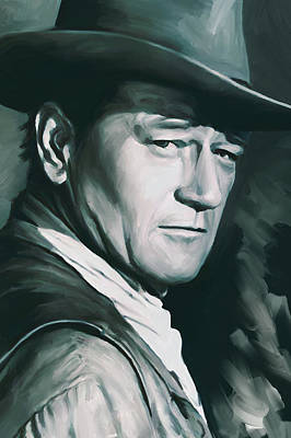 Wayne Painting - John Wayne Artwork by Sheraz A