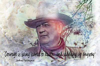 Mixed Media - John Wayne by EricaMaxine  Price