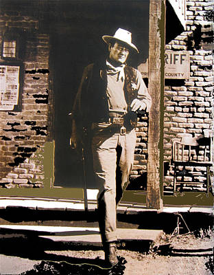 John Wayne Exciting The Sheriff's Office Rio Bravo Set Old Tucson Arizona 1959-2013 Art Print by David Lee Guss