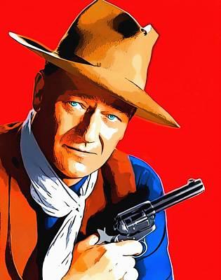 John Wayne In Rio Bravo Art Print by Art Cinema Gallery