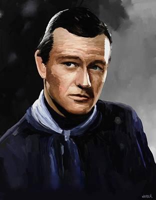 John Wayne In Stagecoach Art Print by Robert Wheater