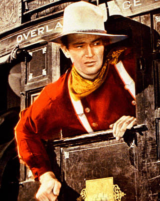 Stagecoach Photograph - John Wayne In Stagecoach  by Silver Screen