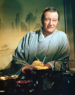 Barbarian Photograph - John Wayne In The Barbarian And The Geisha by Silver Screen