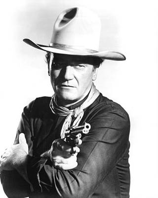 1960 Photograph - John Wayne In The Man Who Shot Liberty Valance by Silver Screen