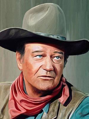 John Wayne Art Print by James Shepherd