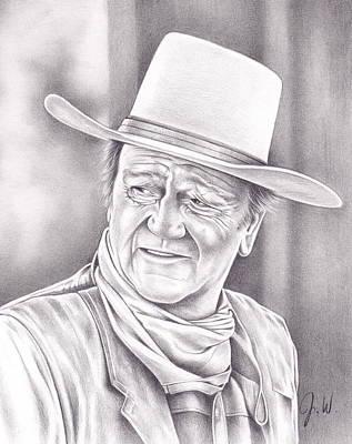 The Duke Drawing - John Wayne by Jamie Warkentin