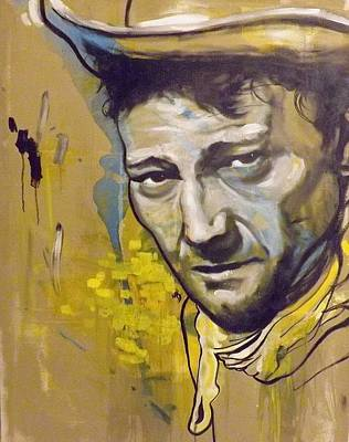Painting - John Wayne by Matt Burke