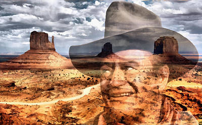 Digital Art - John Wayne Monument Valley by Lester Phipps