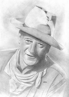Drawing - John Wayne by Pat Moore